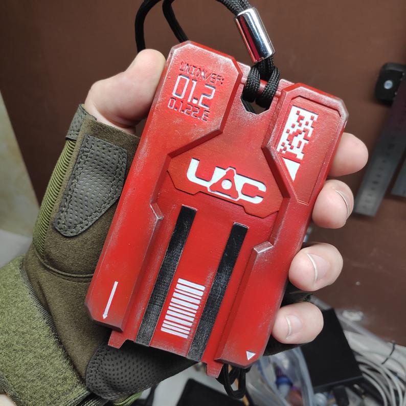 Doom Red Key Card